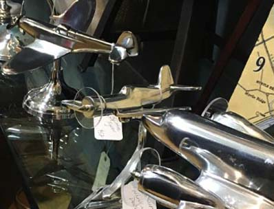 Metal Vintage Airplane and Stands